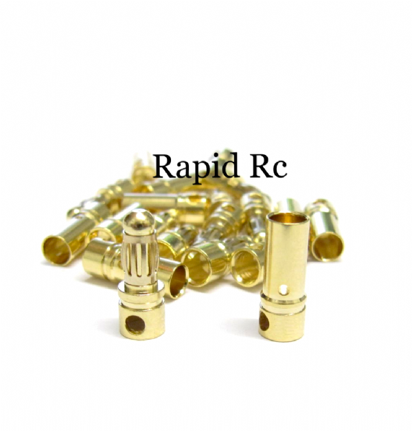 3.5mm Gold Connectors 10 PAIRS (20PC)